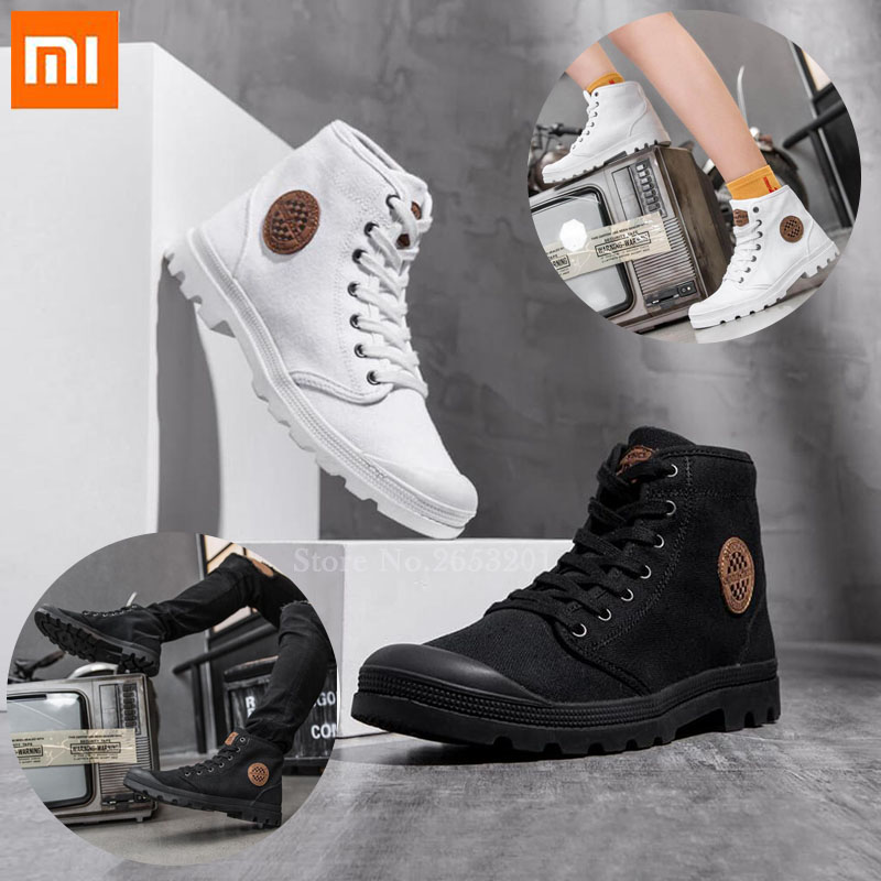 Xiaomi GOODYEAR Canvas Shoes Wear Resistant Work Boots Fine Lines Man Woman High top Canvas Shoes Liberation Shoes Outdoor Shoes-in Smart Remote Control from Consumer Electronics    1