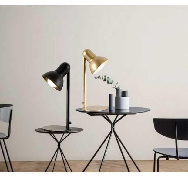 Lampes de bureau en fer classique E27 LED lampe de Table pour bureau lecture veilleuse chevet maison café couloir lampe de lecture