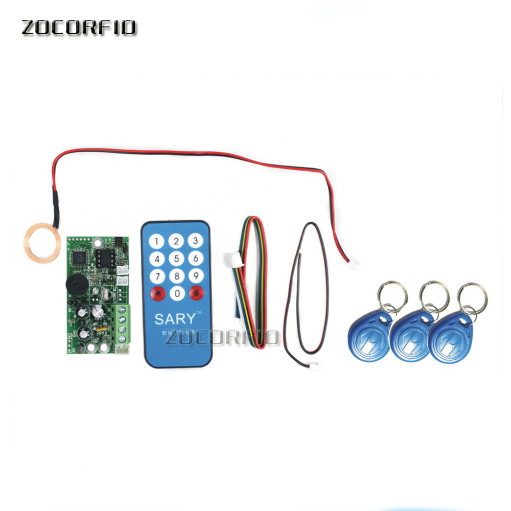 Free shipping SY-1788 125KHZ RFID embedded entrance access control system main board /Building intercom access board +10cards