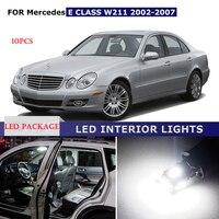 10PCS Canbus Car Dome Glove Trunk Reading Light Bulb Led Interior Light Package Kit For Mercedes