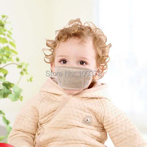 Baby Masks Cotton Organic Infant Fog Anti Face Cute Mask