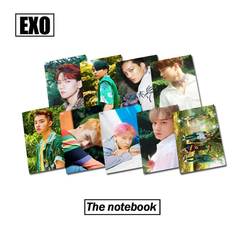 [MYKPOP]EXO THE WAR KOKOBOP Photo Exercise Book Lined Big Study Notebook Workbook Diary  ...