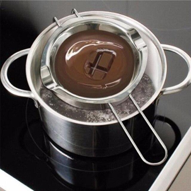 1 PC 304 Stainless Steel Dapur Rumah Susu Mangkuk Ganda Boiler Butter Chocolate Melting Pot Pan LB 508