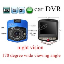 hot sale motion detection 2.7 inch screen Car DVR HD Recorder GT300 Dashcam Digital Video Registrator G-Sensor Night Vision