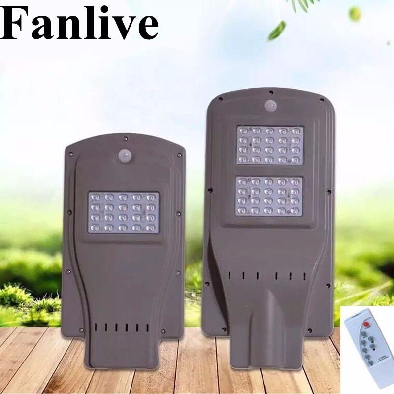 8PCS 20W 40W 60W Led Solar Powered Streetlight Outdoor For The Yard Integrated Radar Sensor PIR Human Body Sensor Remote Control|Solar Lamps| |  -