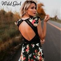 우아한 꽃 인쇄 레이스 맥시 드레스 vestidos 섹시한 깊은 V 넥 등이없는 여름 드레스 여성 보헤미안 비대칭 긴 드레