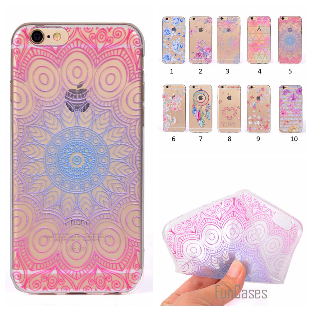 Cute Phone Case For iPhone 5 Coque Flower Dandelion Style Soft TPU Capa For iPhone 5S SE Fundas Rose Wind Chime Back Cover ajax