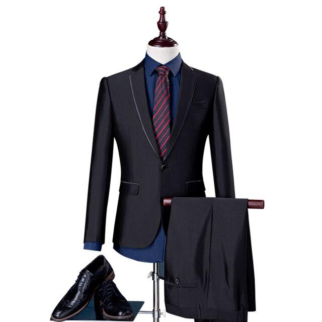 687b694b4 € 98.13 |Izquierda ROM 2018 (capa y pantalones) alto grado de ropa de color  puro traje hombres de negocios ocio un traje masculino cuerpo delgado un ...