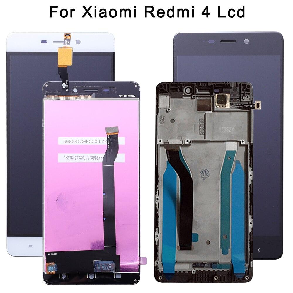 De alta Qualidade Para Xiaomi redmi 4 16 2 Padrão gb RAM gb ROM Screen Display LCD + Digitador Da Tela de Toque para redmi 4 Versão Normal