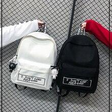 Leinwand Rucksack Harajuku Stil Frauen Rucksack Puppe Anhänger Schulter Tasche Hohe Qualität Mädchen Schule Rucksack Mochila Rucksack