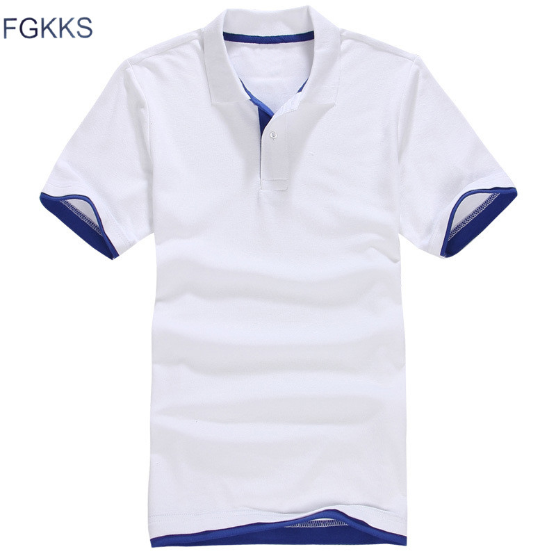 FGKKS 2017 New Fashion Brand Men Polo shirt Solid Color Long Sleeve Slim Fit Shirt Men