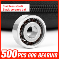 200pcs 606 Ceramic Bearings 606 Miniature Ball For Hand Spinner Medical Equipment Roller Skating Hardware Tools