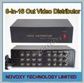 Envío Libre 8 En 16 Distribuidor de Vídeo Compuesto BNC AHD amplificador de $ number canales a splitter para cctv 16ch sistema de cámaras de seguridad dvr