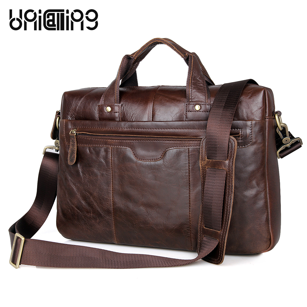 Handbag men fashion vintage men leather handbag laptop leather bag premium quality genuine leather men business bag shoulder bag
