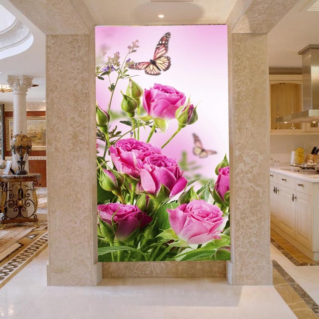NEW 5D pink rose butterfly picture handmade diamong painting cross stitch diamond embroidery mosaic pattern house warming gift in Diamond Painting Cross Stitch from Home Garden