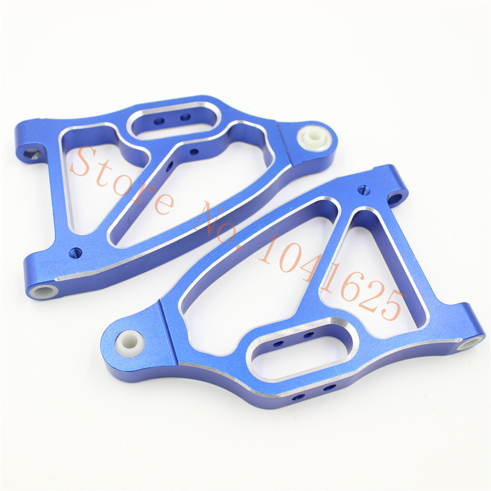 HSP BLUE ROCKET Spare Parts 052002 Aluminum Front Lower Suspension Arm L/R Al Upgrade For 1/5 Gasoline Power On Raod RC Car Baja 03007 motor mount rc hsp 1 10th on road drift off road car buggy monster truck rc car parts child toys