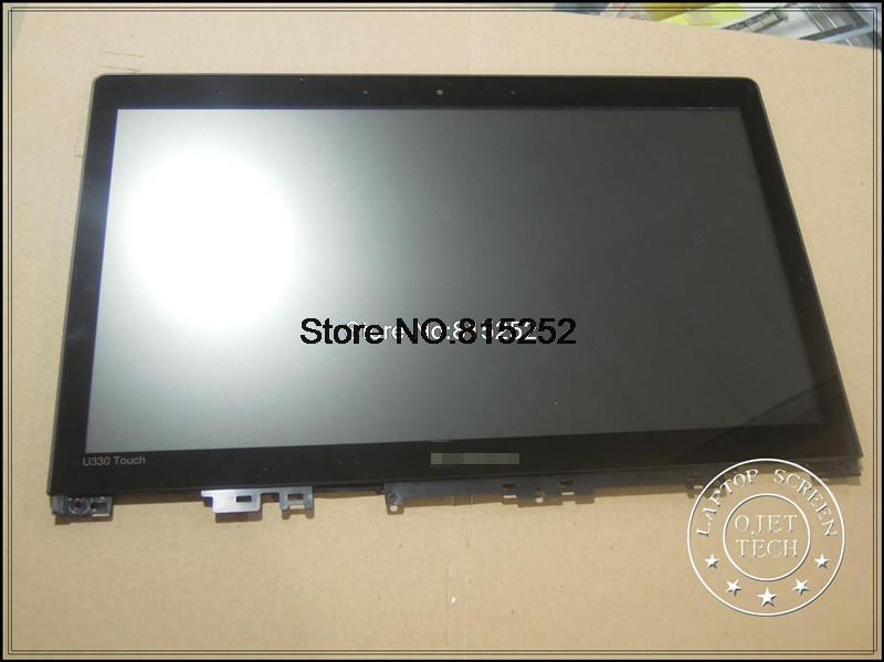 Laptop LCD Touch screen+LCD display For lenovo Ideapad U330 touch U330T Black frame LZ5T 13.3 B133HTN01.1 1920*1080 FHD pl50 lcd