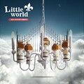 Qiseyuncai маленький мир Европа Большой парад два юаня детская комната люстра мальчик девочка спальня детское освещение Бесплатная доставка