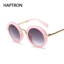 Kids Sunglasses Eyewear Goggle Round Pink-Color Girls Fashion HAPTRON Children Lovely