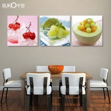 monopoly canvas painting Modular pictures luxury elegant 3pcs canvas modern wall painting setting spray image fruit wall art