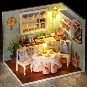 3D DIY Doll House Wooden Baby