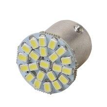 1 шт. 1156 BA15S R10W R5W 22 led smd автомобиля задние светодиодные лампы тормозного светильник автомобильные задние фары парковка лампы дневного света светильник белый 12V