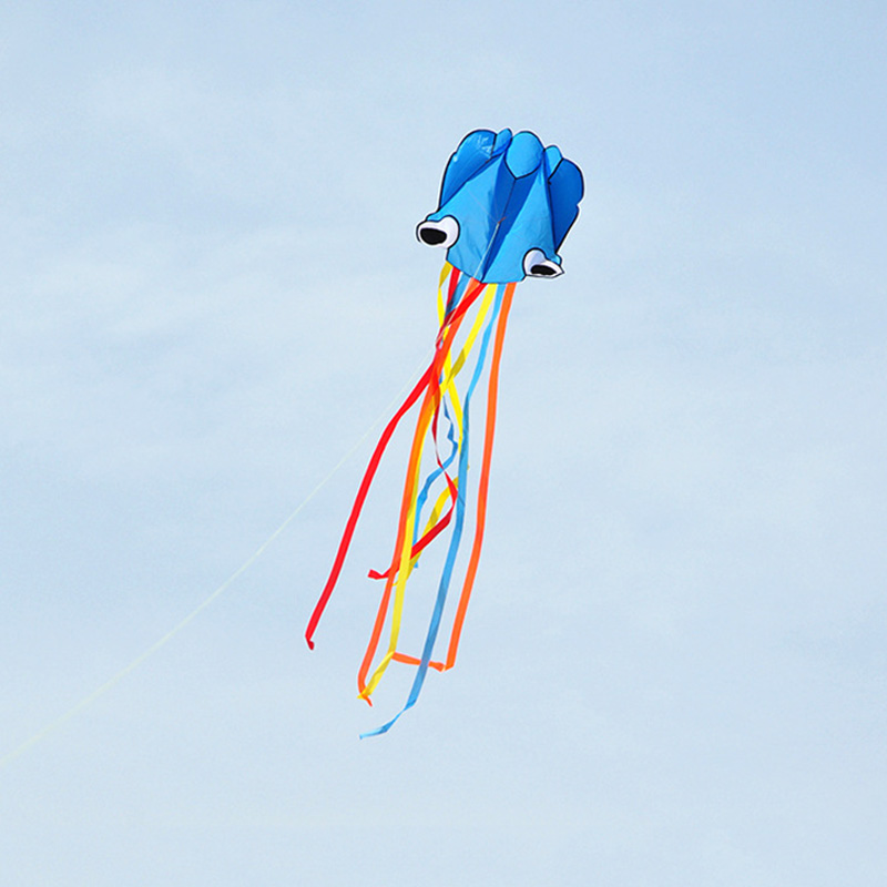 2020 New 4M Large Kite Easy Fly Stunt Foldable Big Octopus Kite With 30m Flying String