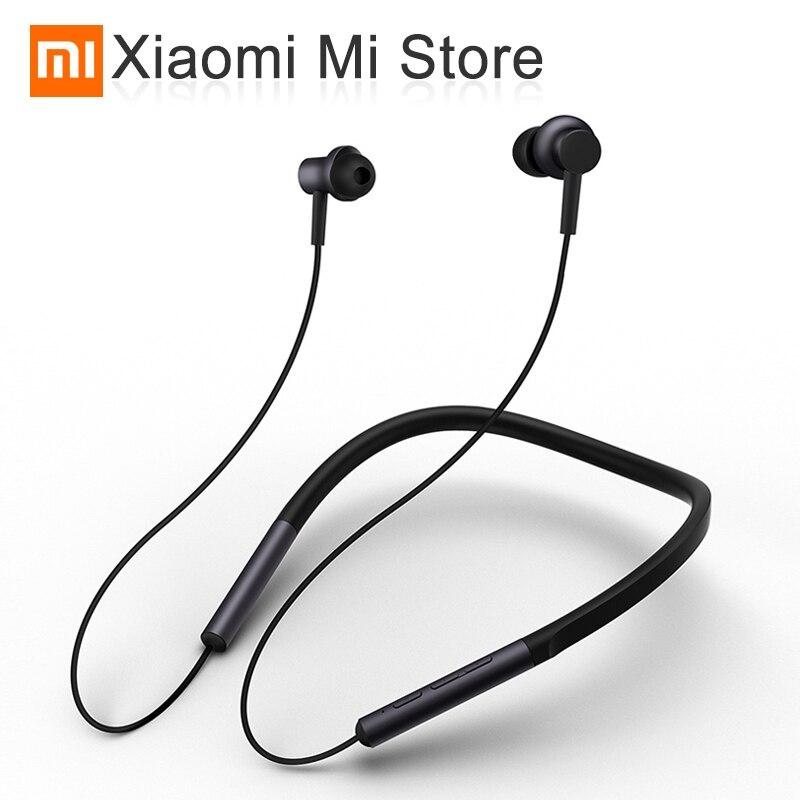 Original Xiaomi Bluetooth collier écouteur Sport sans fil Bluetooth casque avec micro jouer double dynamique écouteurs casque casque