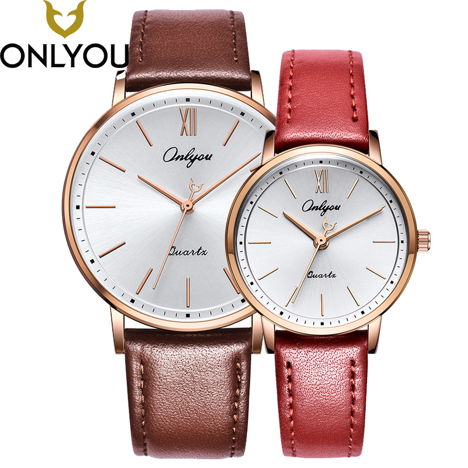 ONLYOU New Arrival Top Fashion Brand Lover Watch Women Simple Casual Wristwatch Men Business Quartz Clock Valentine's Day Gift new arrival 2015 brand quartz men casual watches v6 wristwatch stainless steel clock fashion hours affordable gift