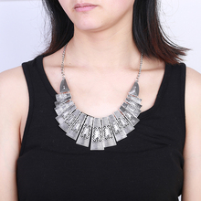 Fashion necklace jewelry antic silver neck Bohemian metal statement high quality woman Necklace wholesale free shipping