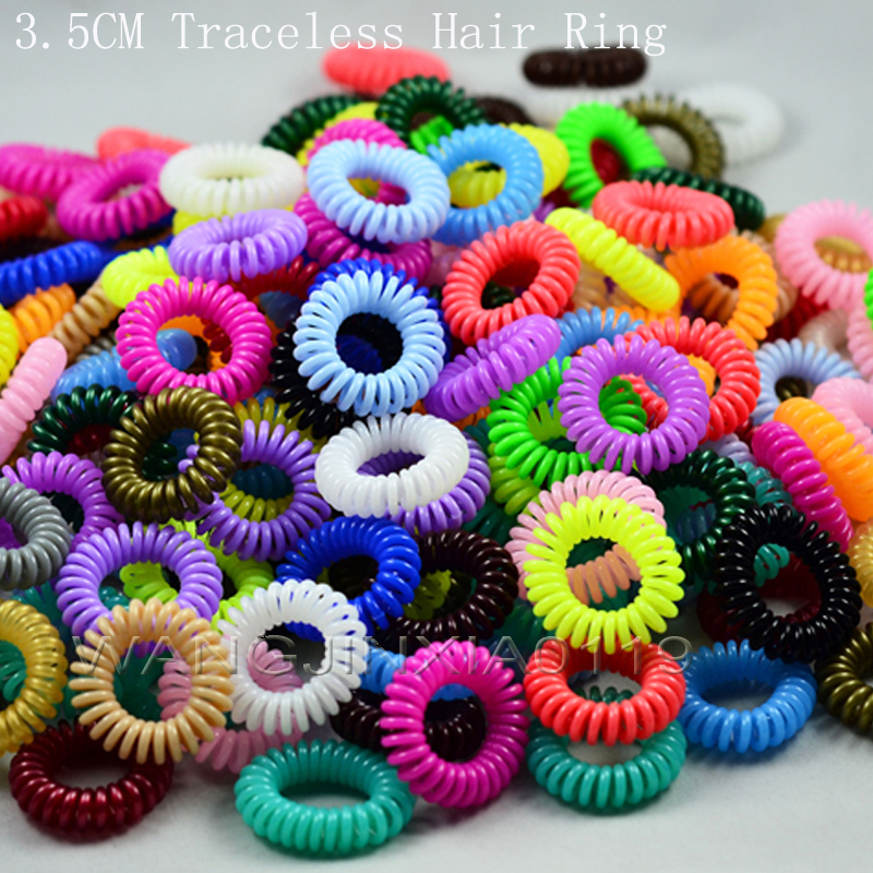 Hair accessories for woman 3 5CM elastic sprial hair rubber bands hair rope girls telephone wire
