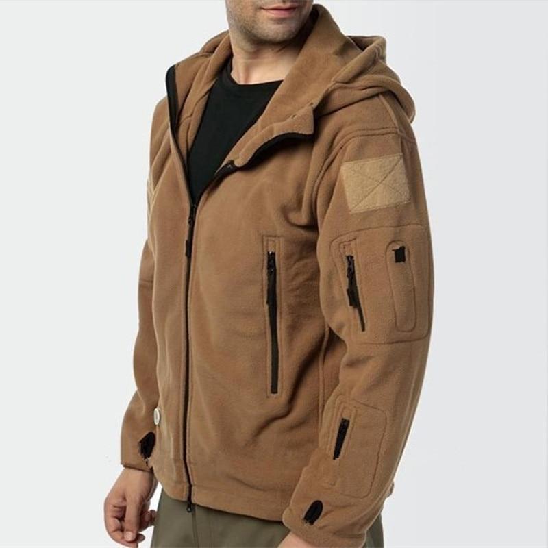 Военная флисовая тактическая куртка для мужчин, теплая верхняя одежда Polartec, теплое пальто с капюшоном, Militar Softshell, походная верхняя одежда, а...