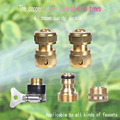Adaptador de Lavadora De Alta pressão Mangueira de Jardim Bico Pulverizador Gun Conectores de Bronze Conjunto de 5 Ferramentas de Limpeza Acessórios Do Carro
