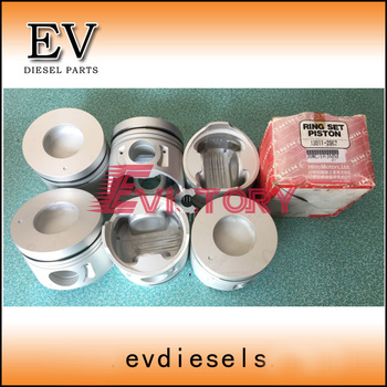 Engine repair J08C J08CT piston and piston ring set for Hino truck