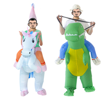 HOT Inflatable Unicorn Pegasus Dinosaur Costumes Fancy Suit Halloween Party Festival Dress Animal Cosplay Costume For