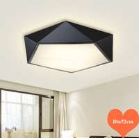 Classic geometric design warm white Acryl ceiling lights American minimalist SMD LED lamp for parlor&bedroom&dining room TM020