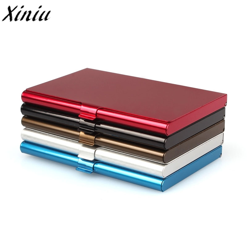 Creative business card case stainless steel Aluminum Holder Metal Box Cover Credit business card holder card metal Wallet men elegant metal business card case
