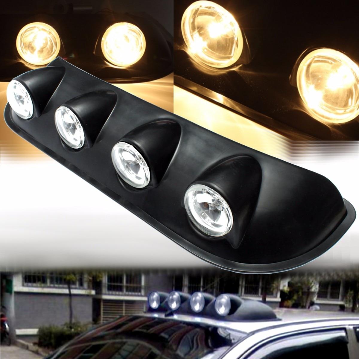 12V Amber Car Roof Marker Top Light Bar Warning Lamp For Pickup 4X4 Off Road SUV Truck VAN 55W Car Roof Light H3 Bulbs цена