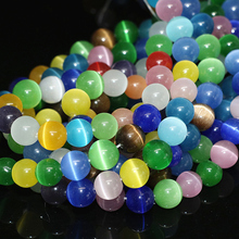 Beautiful multicolor cat eye opal crystal 4mm 6mm 8mm 10mm12mm charming round loose beads jewelry making 15inch A022
