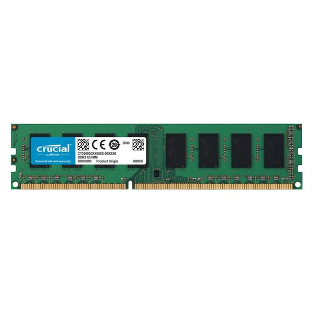 PC3-12800 Crucial 8 go, 8 go, 1x8 go, DDR3, 1600 MHz, DIMM 240 broches