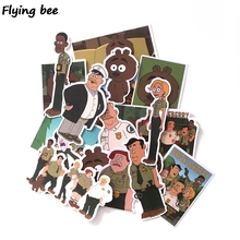 100sets/lot Flyingbee 19Pcs/set Brickleberry Graffiti Stickers for Kids DIY Luggage Laptop Car Bicycle Waterproof Sticker X0133