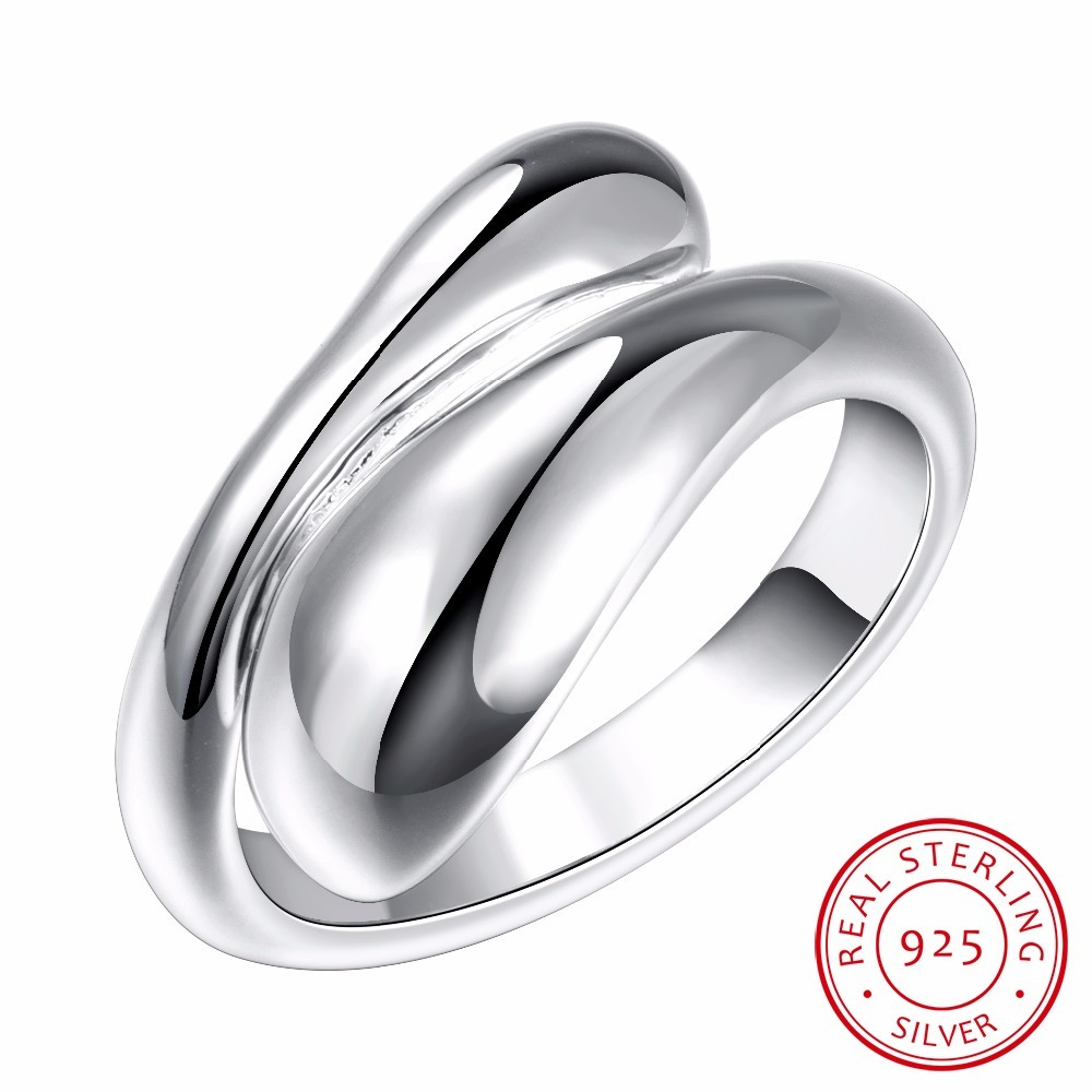 Water Drop 925 Sterling Silver Rings For Women Bijoux, Cute Opening Adjustable Ring Anillos De Plata 925 Anel Feminino Jewelry