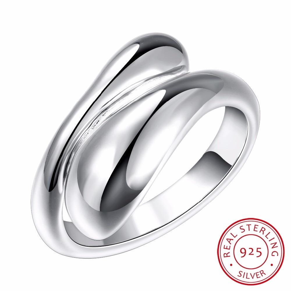 Water Drop 925 Sterling Silver Rings For Women Bijoux, Cute Opening Adjustable Ring Anillos De Plata 925 Anel Feminino Jewelry