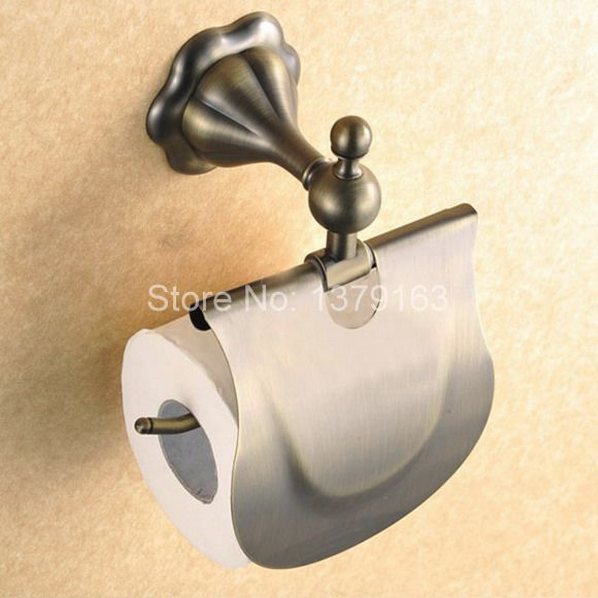 Bathroom Accessory Vintage Retro Antique Brass Wall Mounted Toilet Paper  Roll Holder Aba116(China (