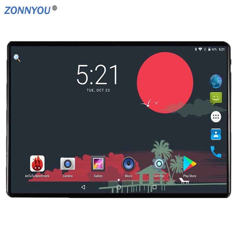10,1 Pulgadas Android 8,0 3g Teléfono Llamada Tablet Pc 4 Gb/32 Gb Octa Core Dual Sim Gps Wi-fi Bluetooth Pc (negro) + Teclado FáCil De Reparar