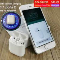 Newest i80 air tws Bluetooth Earphones Pop Up Earbuds wireless Charging Headset 1:1 Size Earphone vs W1 Chip Pods 2 tws