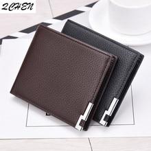 Men's wallets  men's short wallet iron border Korean new business  version of the young men's style wallet trend card bag 009Q