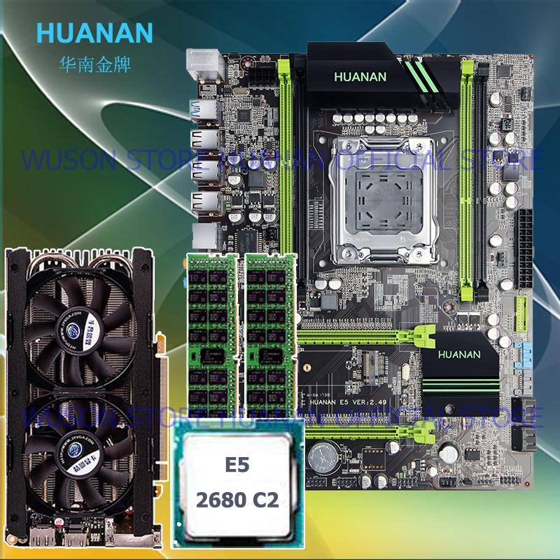 HUANAN X79 motherboard V2.49 LGA2011 processor Xeon E5 2680 C2 RAM 16G(2*8G) DDR3 RECC video card GTX760 4GD5 M.2 PCI-E NVME