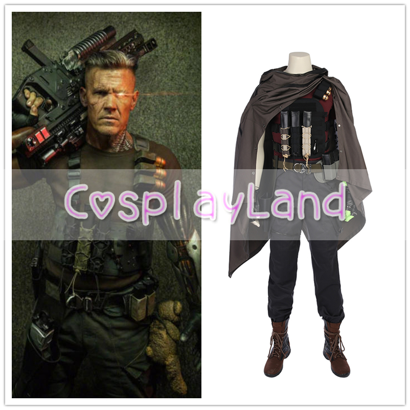 Deadpool 2 Costume Nathan Summers Cosplay Costume For Men Leather Suit Halloween Cosplay Costume Custom Made Deadpool Outfit