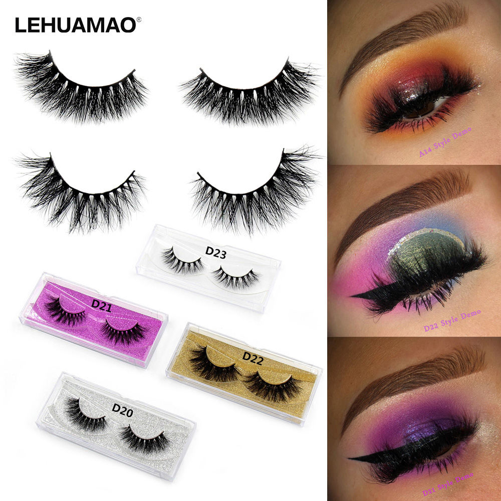 3b5f033304a LEHUAMAO Mink Lashes 3D Mink False Eyelashes Long Lasting Lashes Natural  Lightweight Mink Eyelashes Fluffy Dramatic Eye Makeup